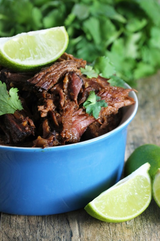 Easy Slow Cooker Chili-Lime Mexican Shredded Beef Crockpot