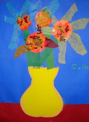 Van Gogh Sunflower Art Lesson Modern Latina Mommy